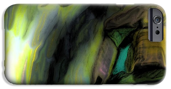 Storm Prints Pastels iPhone Cases - Adrift in the Storm iPhone Case by Marie Jamieson