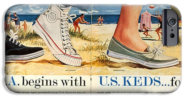 Sneaker iPhone Cases - Advert: Keds Sneakers 1959 iPhone Case by Granger