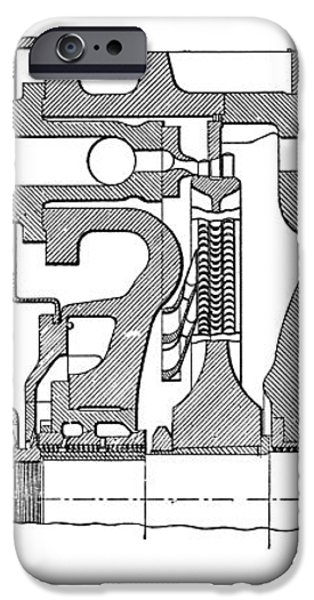 Aeg-curtis Steam Turbine iPhone Case by Mark Sykes