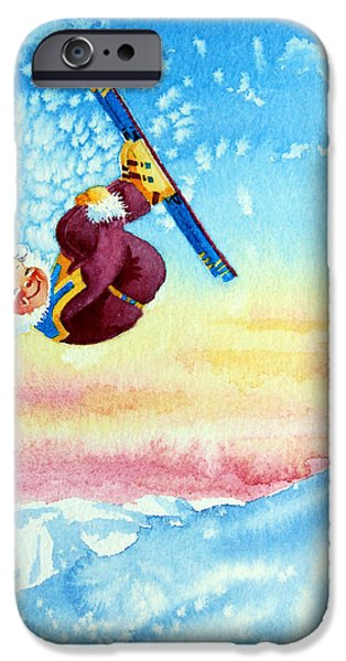 Aerial Skier 13 iPhone Case by Hanne Lore Koehler