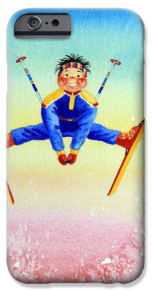 Aerial Skier 17 iPhone Case by Hanne Lore Koehler