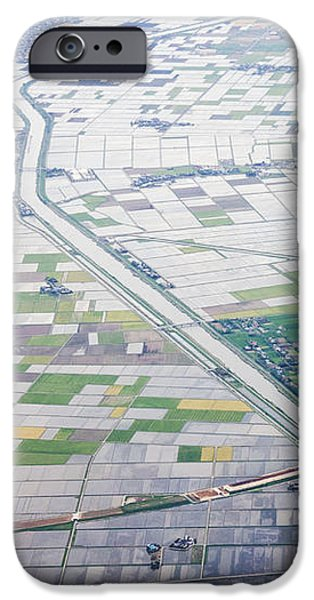 Aerial View of Flooded Farmland iPhone Case by Jeremy Woodhouse