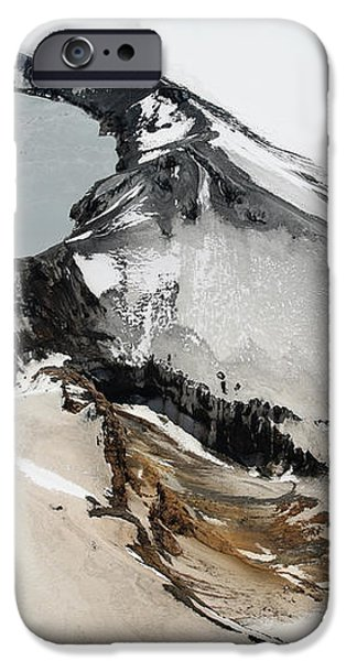 Aerial View Of Snow-covered Ruapehu iPhone Case by Richard Roscoe