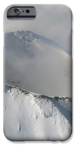 Aerial View Of Summit Of Shishaldin iPhone Case by Richard Roscoe