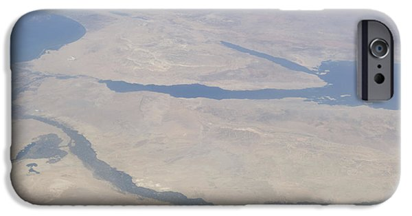 River View iPhone Cases - Aerial View Of The Egypt And The Sinai iPhone Case by Stocktrek Images