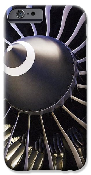 Components iPhone Cases - Aeroplane Engine iPhone Case by Mark Williamson