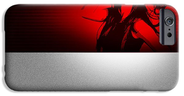 Intense iPhone Cases - Affected iPhone Case by Naxart Studio
