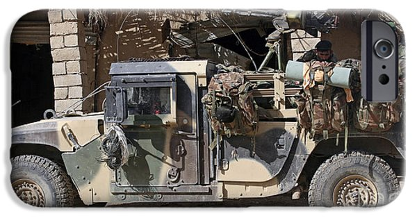 East Village iPhone Cases - Afghan National Army Soldiers Prepare iPhone Case by Stocktrek Images