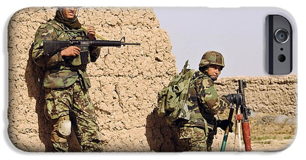 Rpg iPhone Cases - Afghan Soldiers Conduct A Dismounted iPhone Case by Stocktrek Images