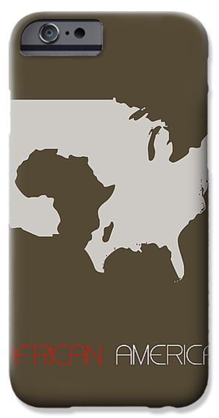 Patriotism iPhone Cases - African America Poster iPhone Case by Naxart Studio