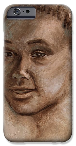 African American 2 iPhone Case by Xueling Zou
