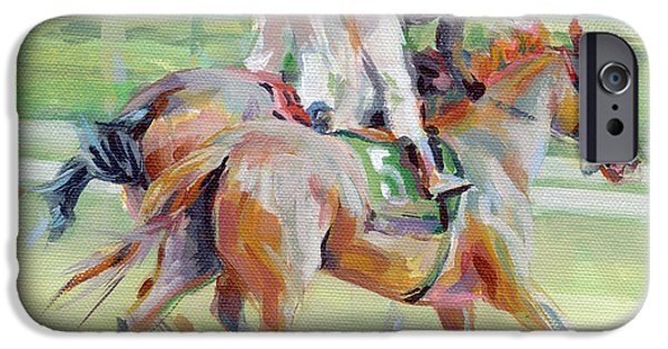 Jockeys iPhone Cases - After the Finish iPhone Case by Kimberly Santini