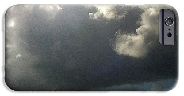 Turbulent Skies iPhone Cases - Afternoon Storm 2 iPhone Case by Jean Macaluso