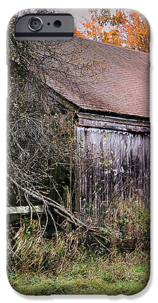 Aged Just Right - Jaffrey New Hampshire Barn  iPhone Case by Thomas Schoeller
