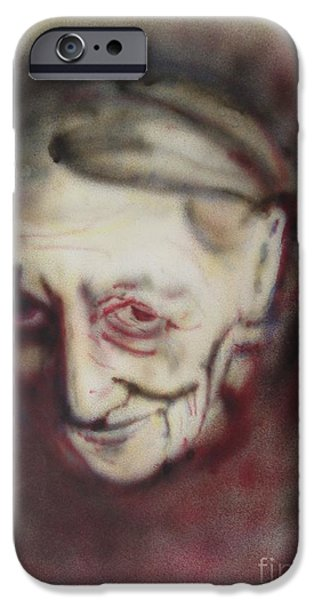 Airbrush iPhone Cases - Aged Smile iPhone Case by Ron Bissett