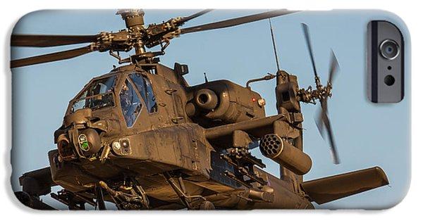 Iraq Prints iPhone Cases - AH64 Apache 3 iPhone Case by Ken Brannen