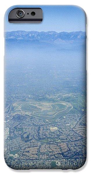 Air Pollution Over Los Angeles iPhone Case by Detlev Van Ravenswaay