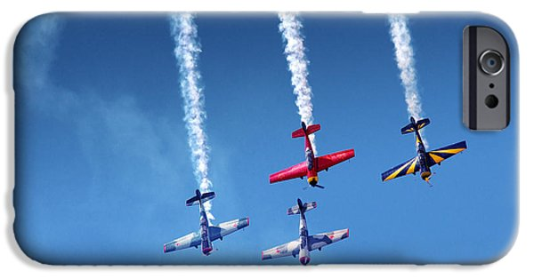 Exhibition iPhone Cases - Air Show iPhone Case by Carlos Caetano
