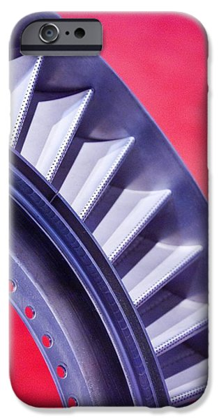 Aircraft Engine Fan Component iPhone Case by Mark Williamson