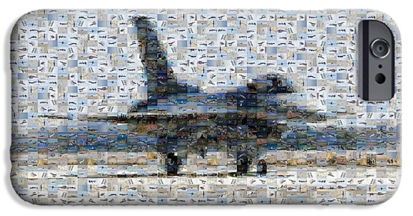 Iraq Greeting Cards iPhone Cases - Airforce F-4866 Mosaic  iPhone Case by Darleen Stry