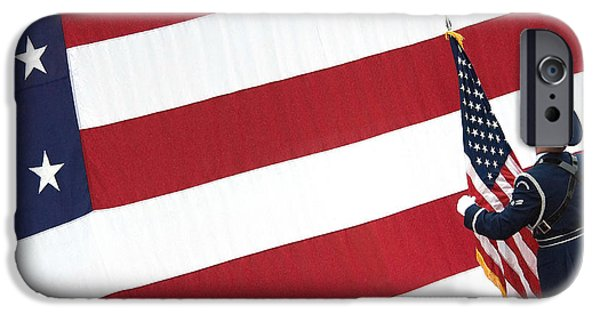 American Flag iPhone Cases - Airman Posts The American Flag iPhone Case by Stocktrek Images