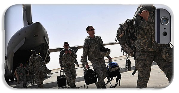 Following iPhone Cases - Airmen Arrive In Iraq In Support iPhone Case by Stocktrek Images