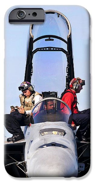 Airmen Perform A Weapons Release Check iPhone Case by Stocktrek Images