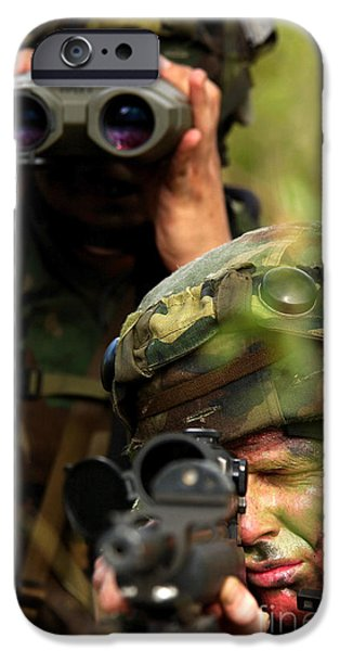 Bullis iPhone Cases - Airmen Provide An Overwatch iPhone Case by Stocktrek Images