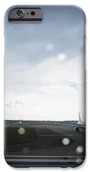 Airplane on Runway iPhone Case by Shannon Fagan