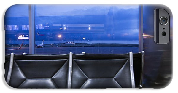 At Arrivals iPhone Cases - Airport Terminal Seating iPhone Case by Roberto Westbrook