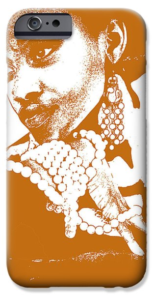 Africans iPhone Cases - Aisha Brown iPhone Case by Naxart Studio