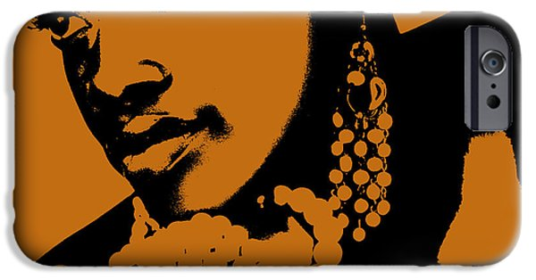 Africans iPhone Cases - Aisha iPhone Case by Naxart Studio