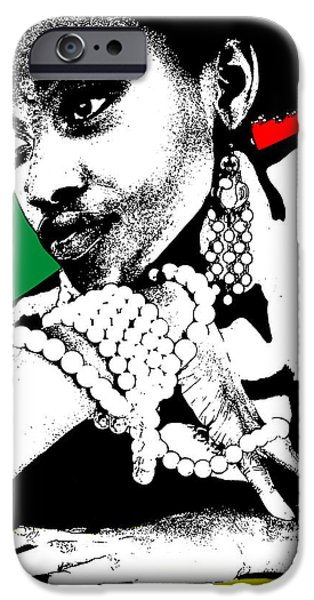 Africans iPhone Cases - Aisha Jamaica iPhone Case by Naxart Studio