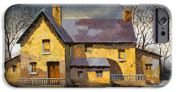 House iPhone Cases - Al Mattino iPhone Case by Guido Borelli