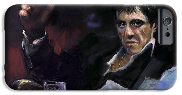 Al Pacino iPhone Cases - AL Pacino snow iPhone Case by Ylli Haruni
