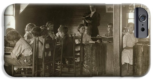 Schoolboy iPhone Cases - Alabama: Classroom, 1913 iPhone Case by Granger