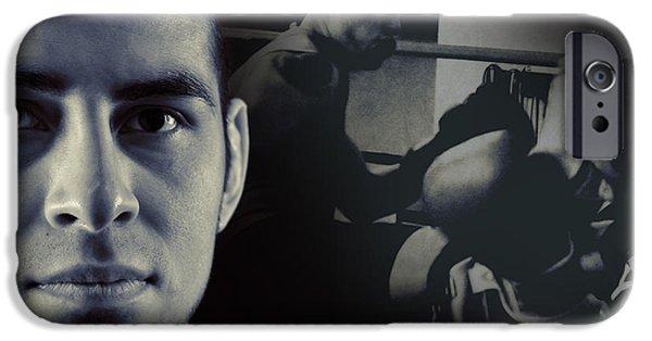 Boxer iPhone Cases - Alain Hernandez Mixed Martial Artist iPhone Case by Lisa Knechtel