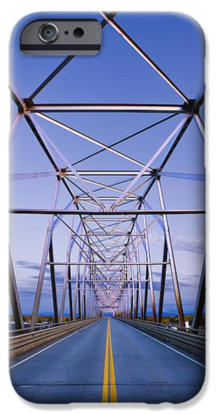 Alaska Native Veterans Honor Bridge iPhone Case by Yves Marcoux