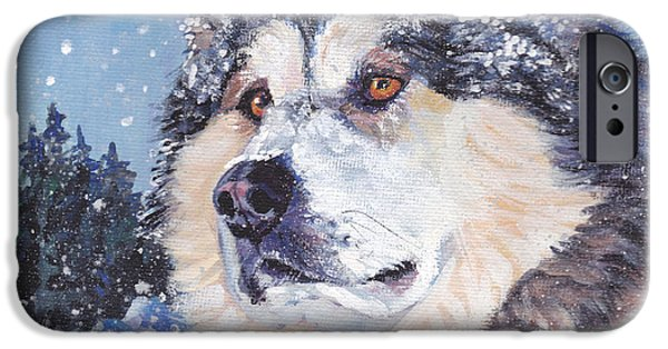 Sled Dog iPhone Cases - Alaskan Malamute iPhone Case by Lee Ann Shepard