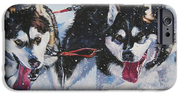 Sled Dog iPhone Cases - Alaskan Malamute strong and steady iPhone Case by L A Shepard