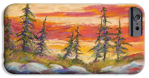 Rose Pastels iPhone Cases - Alaskan Skies iPhone Case by Marion Rose