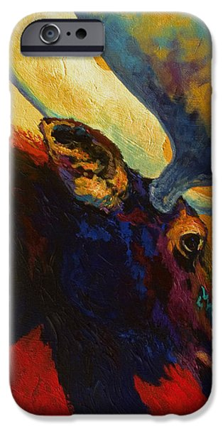 Alaskan Spirit - Moose iPhone Case by Marion Rose