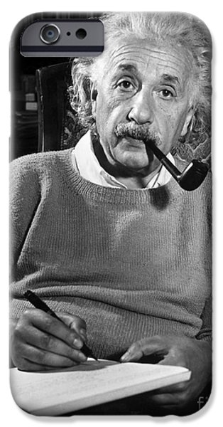 New Jersey iPhone Cases - Albert Einstein iPhone Case by Granger