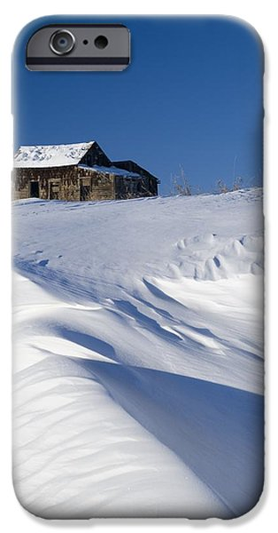 Alberta, Canada Abandoned Farm Building iPhone Case by Philippe Widling