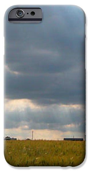 Alberta wheat field iPhone Case by Stuart Turnbull