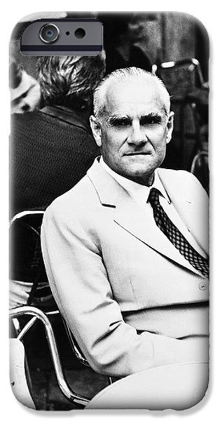 ALBERTO MORAVIA (1907-1990) iPhone Case by Granger