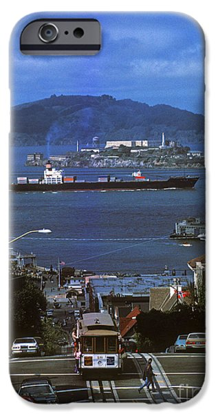 Alcatraz iPhone Cases - Alcatraz from San Fran hilltop iPhone Case by Paul W Faust -  Impressions of Light