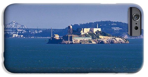 Alcatraz iPhone Cases - Alcatraz Island in San Francisco Bay iPhone Case by David Buffington
