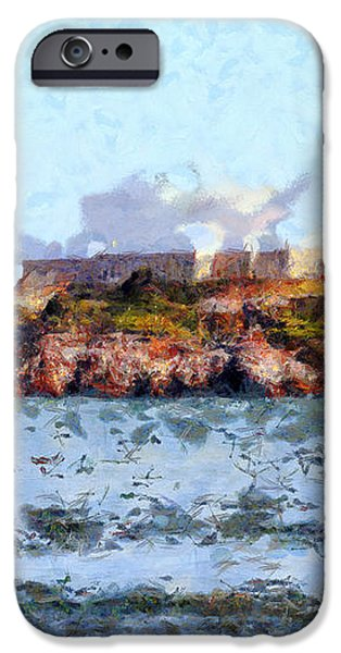Alcatraz Island in San Francisco California . 7D14031 iPhone Case by Wingsdomain Art and Photography