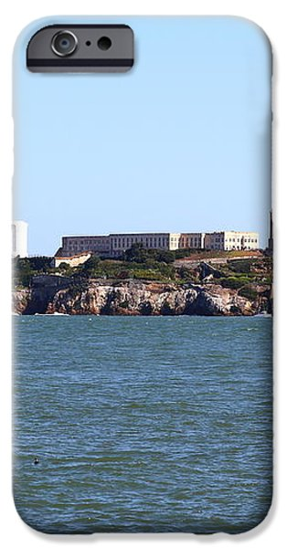 Alcatraz Island in San Francisco California . West Side . 7D14007 iPhone Case by Wingsdomain Art and Photography